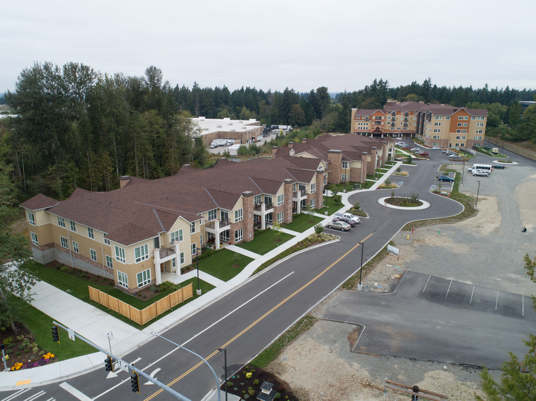 Construction aerial drone photographer in Seattle