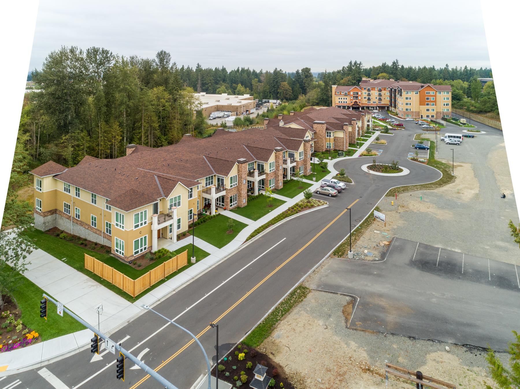 Construction aerial photographer in Portland Oregon