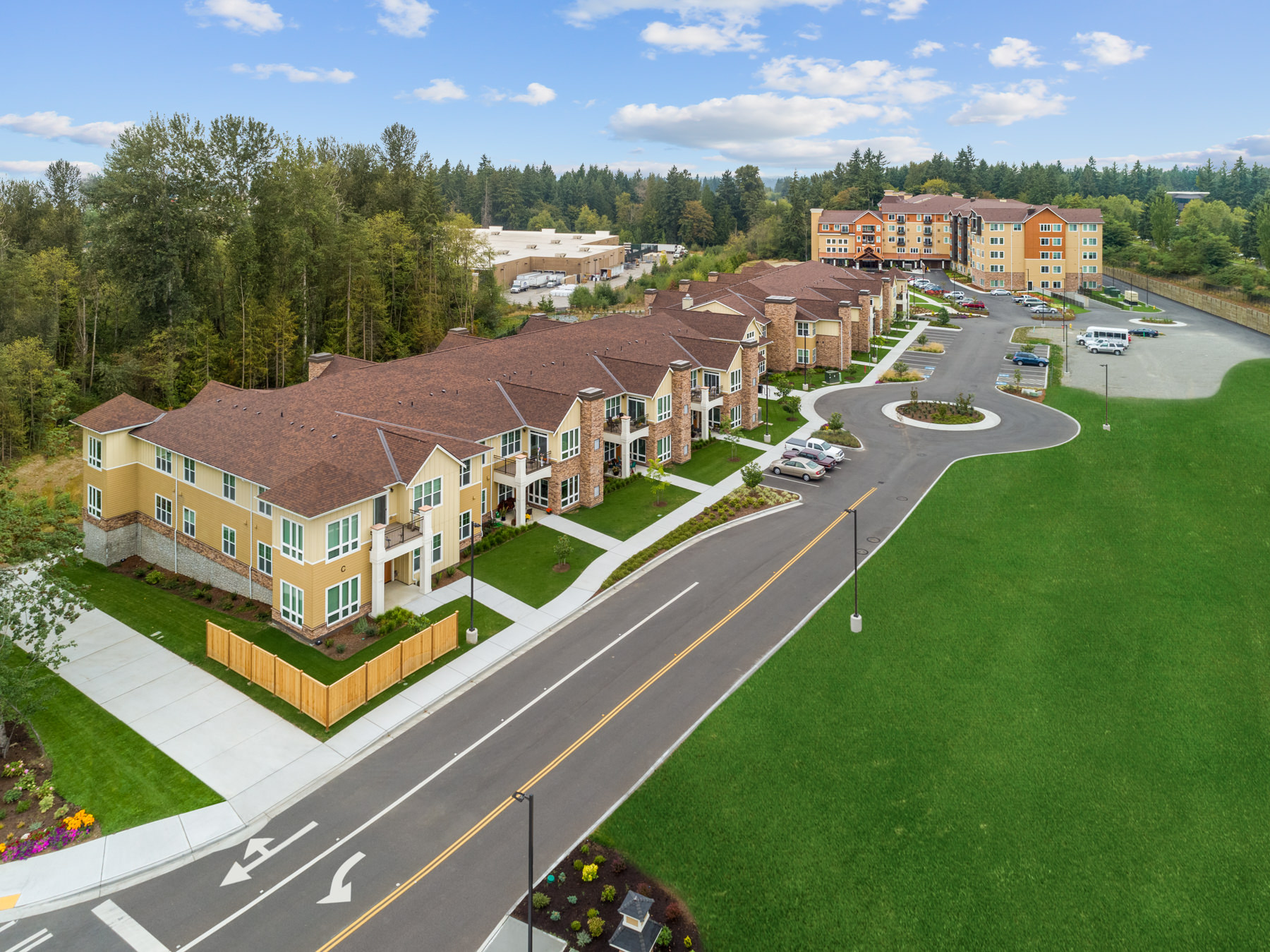 Construction aerial photography in Washington