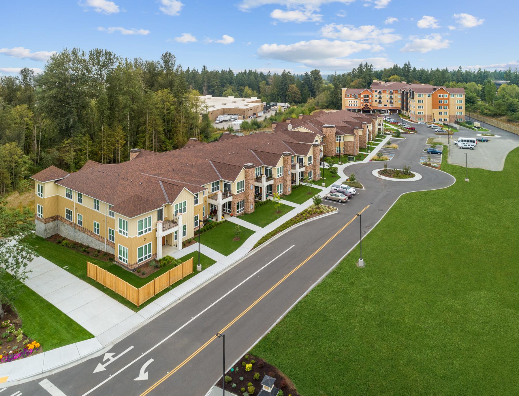 Construction drone photography in Olympia Washington